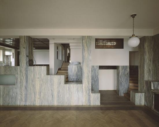 Interior of the The Villa Müller in Prague. Embrace the RAUMPLAN!