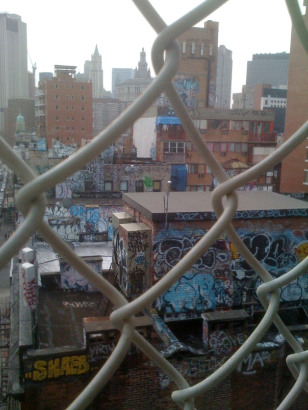 Chinatown, Manhattan from the Manhattan Bridge.