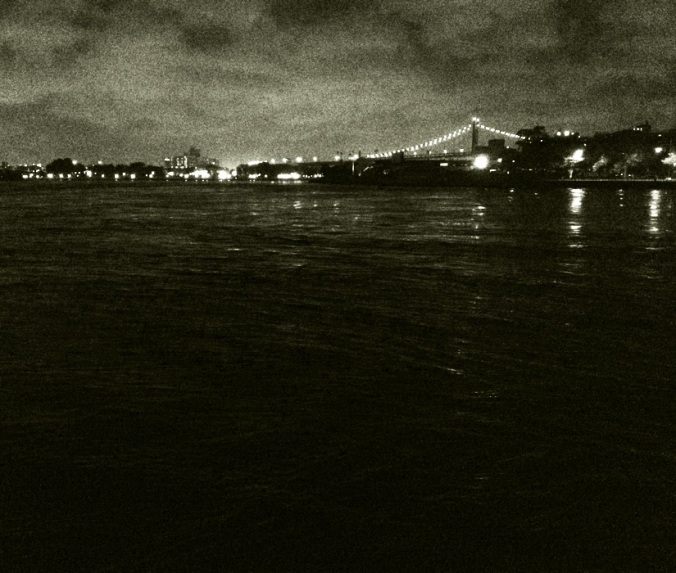 Triboro Bridge.  From northern tip of Roosevelt Island.