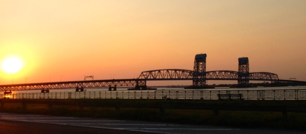 Marine Parkway Gil Hodges Memorial Bridge. From the parking lot at Riis Beach.