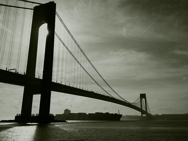 Verazzano Bridge.  From Bay Ridge, Brooklyn