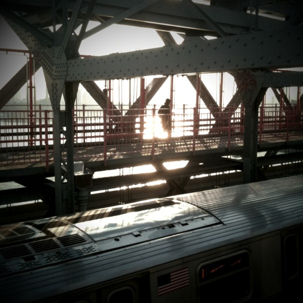 On the Williamsburg Bridge.