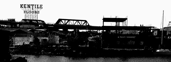 Culver Viaduct. From the banks of the Gowanus Canal.