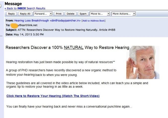 hearing copy