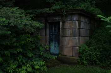 Crypt in the woods.