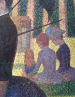 "detail, ""Sunday on La Grande Jatte"" by George Seurat"