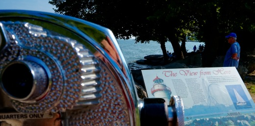 The view is Cedar Point Amusement Park.
