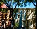Dappled townhouses.