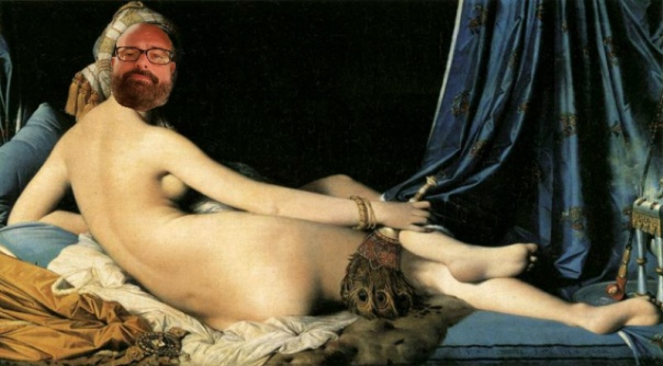Apologies to Jean Auguste Dominique Ingres, 1814.