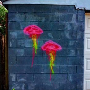 graffiti jellyfish